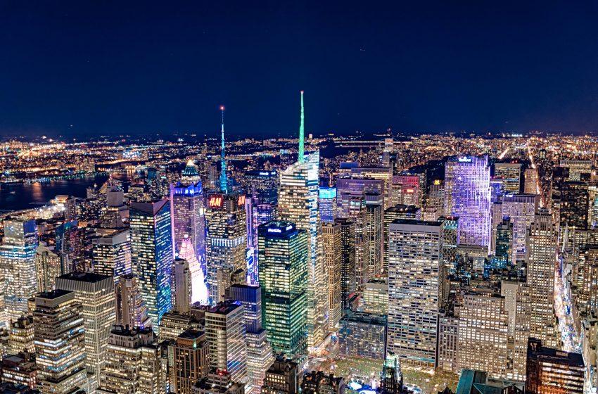 New York Illuminata di Notte