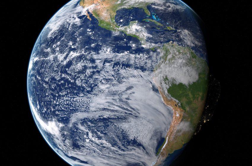 Terra in Primo Piano vista dallo Spazio