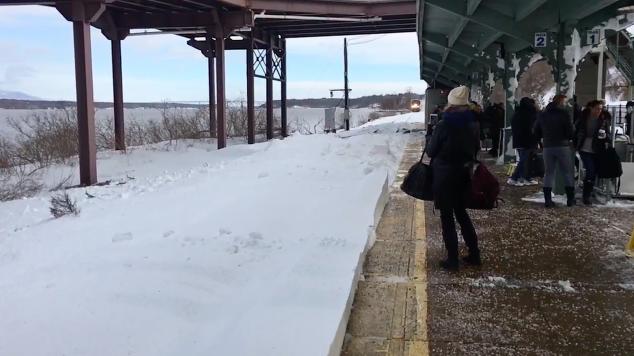 Sorpresa invernale alla stazione