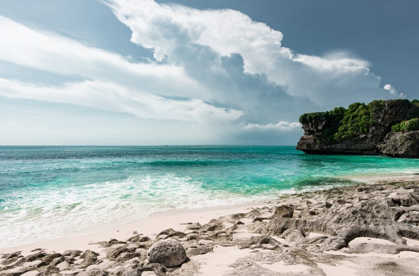 Spiaggia di sabbia bianca a Bali
