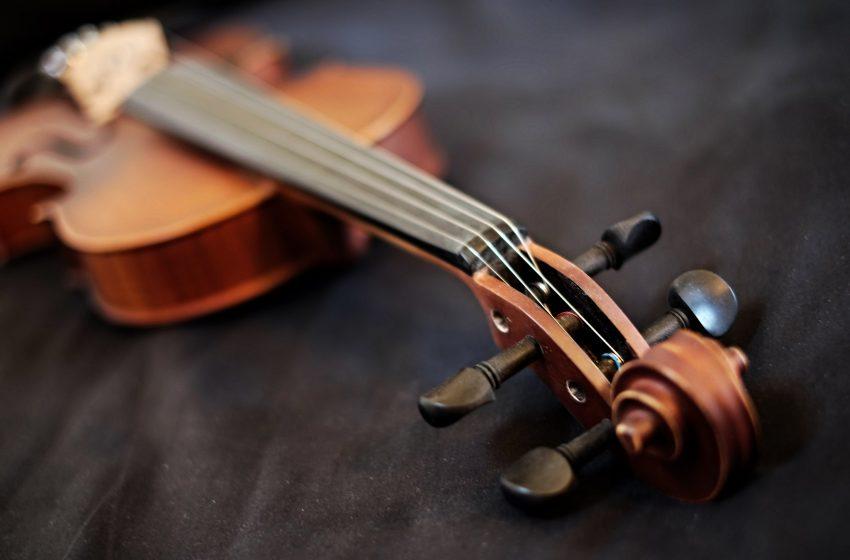Violino in primo piano